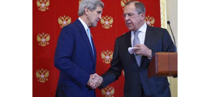 J KERRY ET MINISTRE AFFAIRE ETRANGERE RUSSE