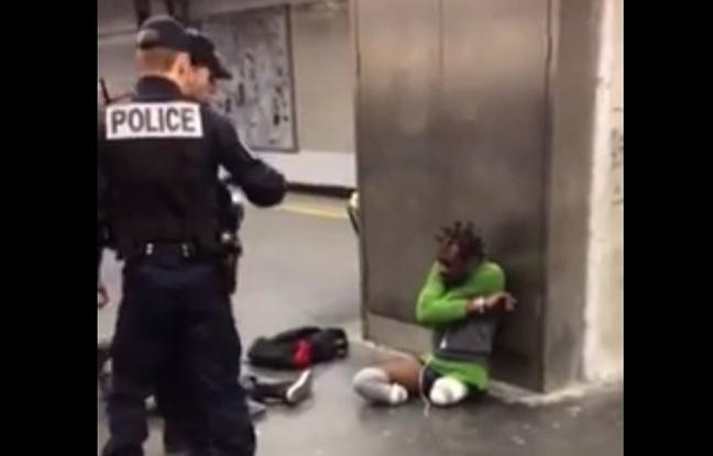 HUMILIATION NOIR POLICE FRANCE